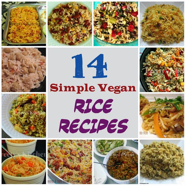 14 Simple #Vegan Rice Recipes