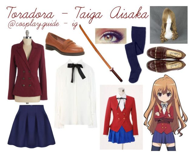 """toradora taiga aisaka cosplay outfit"" by consultingpolyvorer ❤ liked on Polyvore featuring Alexander McQueen, Office, Nordstrom, Lanvin and COS"