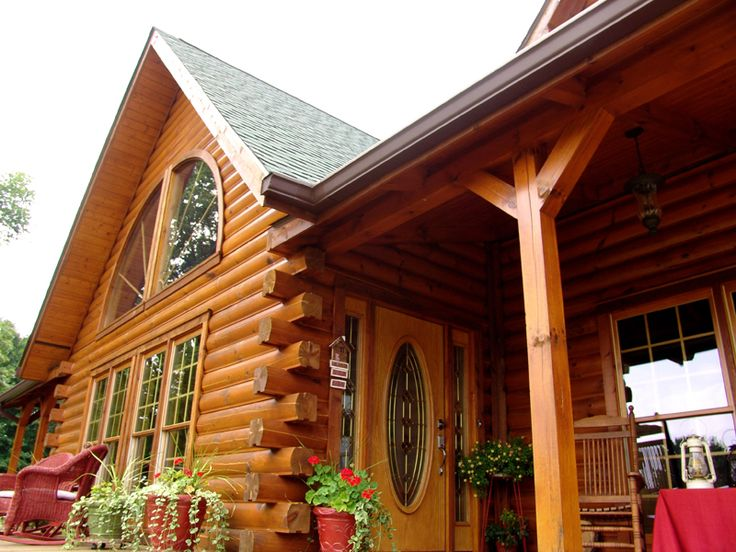 31 best log cabin porches decks and sunrooms images on for Log cabin porches and decks