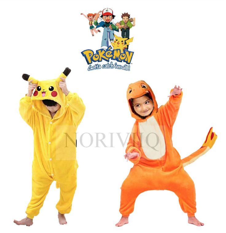 Child Pokemon Onesie Pikachu Pyjamas Kigurumi Costume Charmander Boys Pajamas…