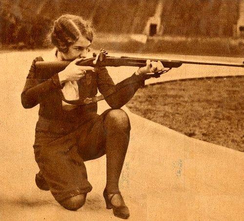 Vintage pic of women shooting....love it!! Thank you my @Franki Ingram !!! <3