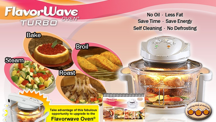 Flavorwave Turbo Oven is a perfect way to cook your favourite recipes using less time and energy.: