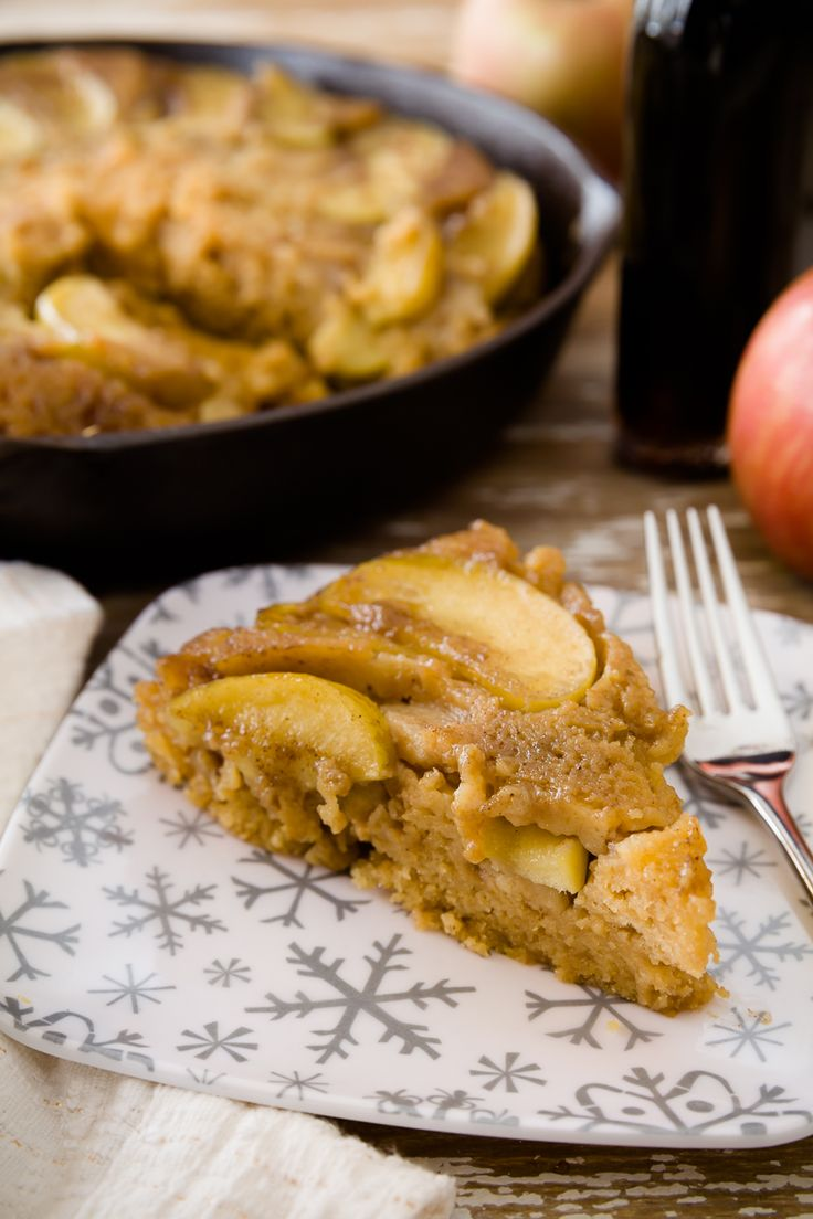 Maple Brown Butter Upside-Down Apple Cake - from Cupcake Project