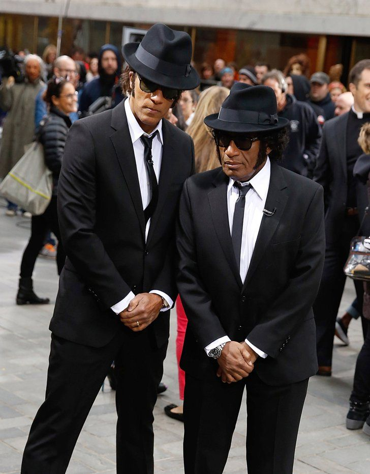 Pin for Later: Look Back at Last Year's Best Celebrity Halloween Costumes! Lester Holt and Al Roker as the Blues Brothers The Today show hosts dressed as the Blues Brothers.