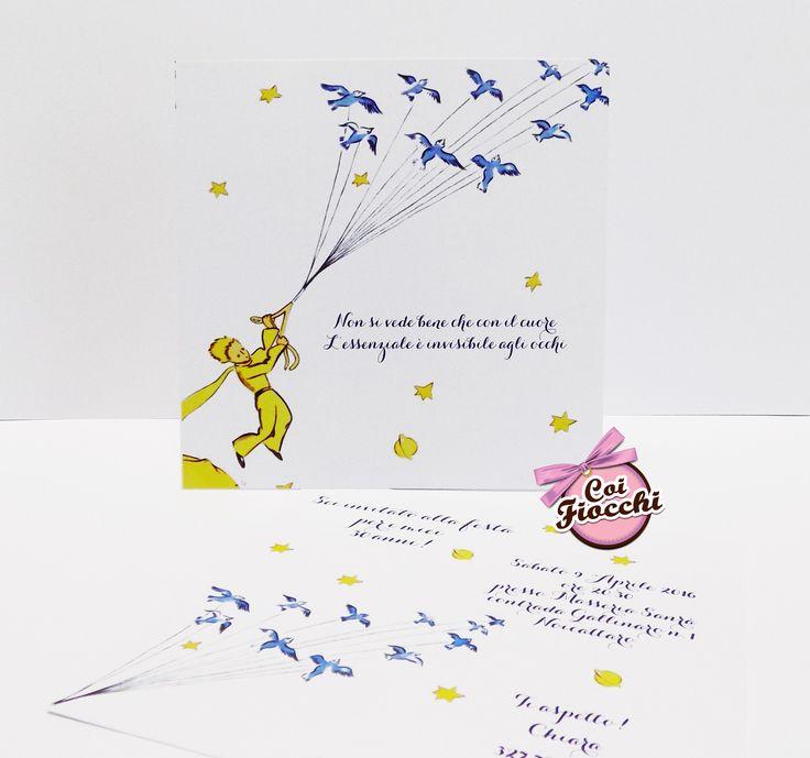 Invito per un compleanno ispirato al Piccolo Principe