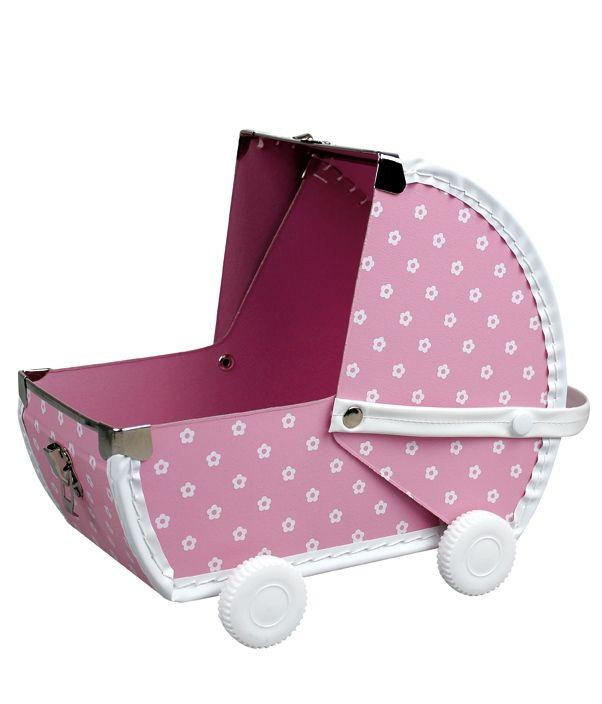 Kočárek pro panenku a kufřík v jednom. Ideální na prázdniny. Baby buggy for a doll and suitcase in one. Perfect on holidays.