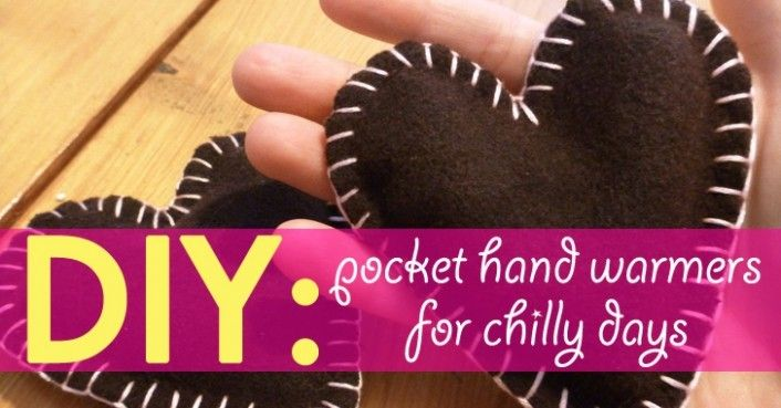 DIY: Pocket Hand Warmers for Chilly Days   Hand warmers ...