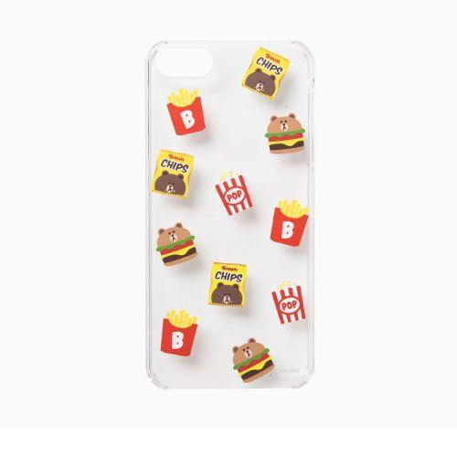 Line Friends Clear Brown iPhone 6/6s PC Apple Hard Case Skin Cover Pattern #NaverLineFriends