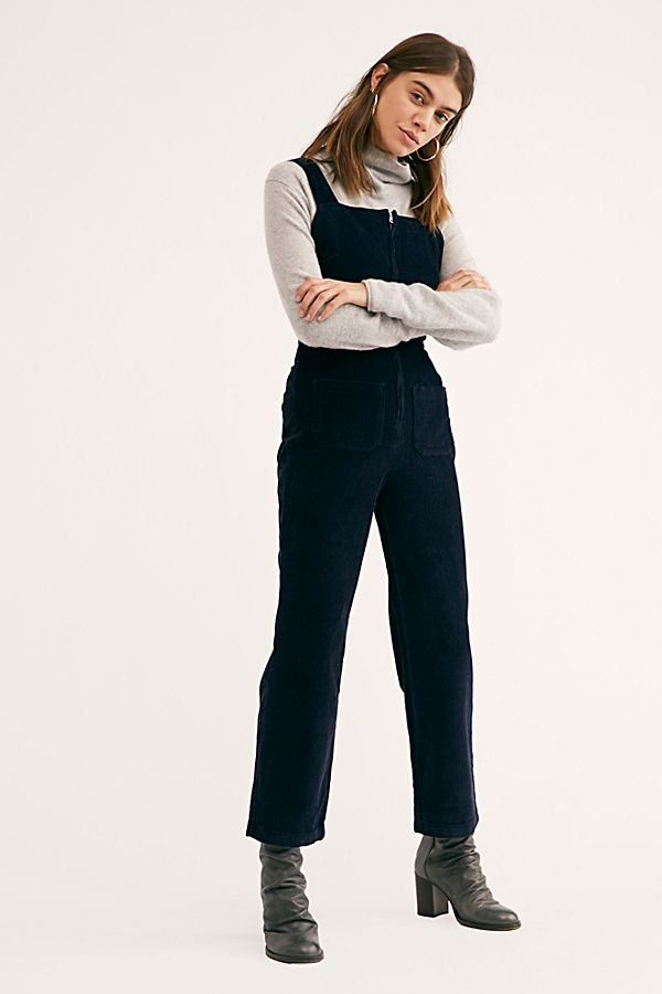 9a6ed20fabc6 Luna Cord One-Piece - Black Corduroy Jumpsuit - Corduroy Jumpsuits - Black  Jumpsuits - Winter Jumpsuits - Black Jumpers - Cord Jumpers
