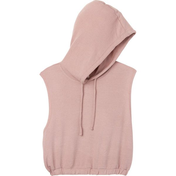 RVCA Women's  Too Cool Pullover Hoodie ($39) ❤ liked on Polyvore featuring tops, hoodies, fleece pullover hoodie, pink crop top, cropped pullover hoodie, pullover hoodie and pink hooded sweatshirt