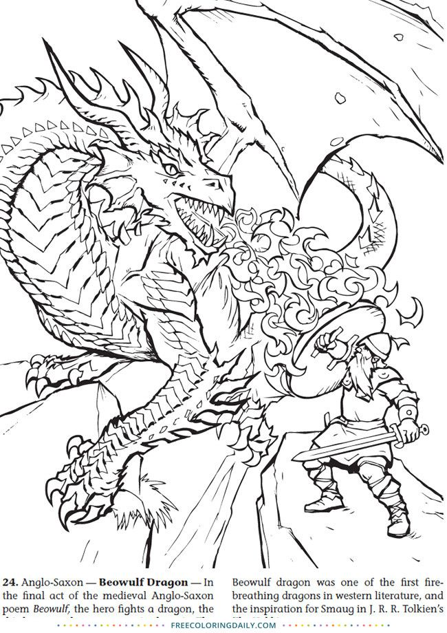 Knight And Dragon Coloring Page Youngandtae Com Dragon Coloring Page Coloring Pages Animal Coloring Pages