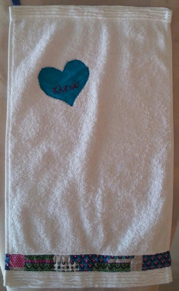 Hand towel for God daughter!!