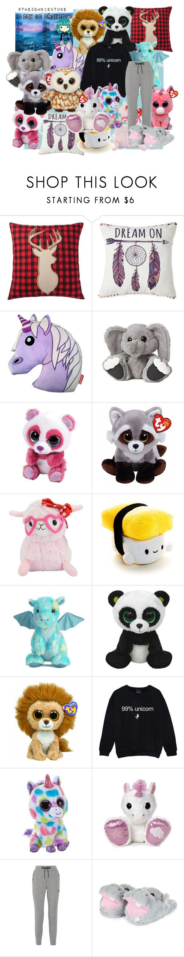 """""""~10 Day Challenge~"""" by micky-star ❤ liked on Polyvore featuring Home Decorators Collection, Home Expressions, Emoji, claire's, Aurora World and NIKE"""