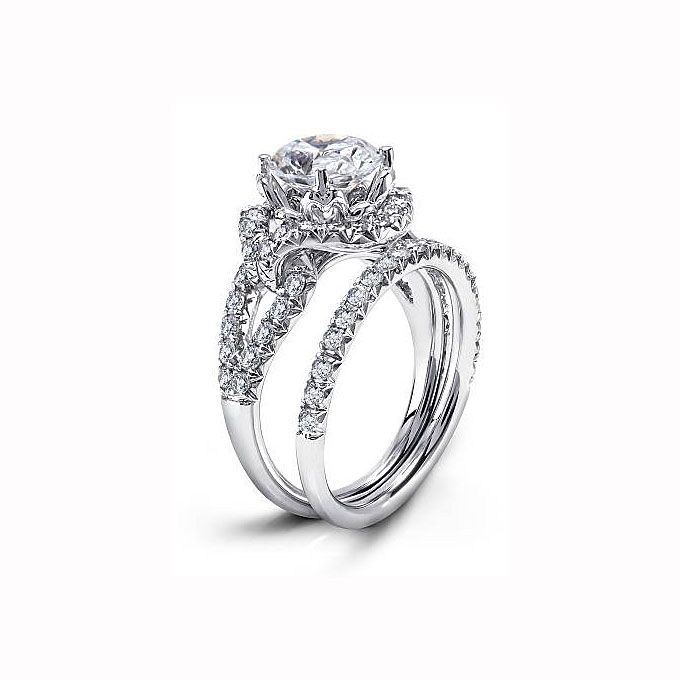 brides michael beaudry 18k white gold and ring