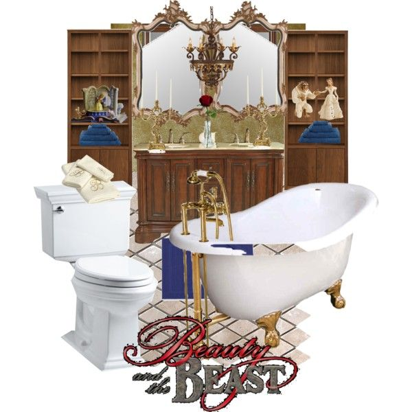 Disneyhome Beauty And The Beast Inspired Bathroom By