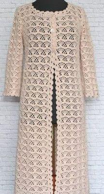 В гости к маме Лоре.: Вязаное пальто крючком со схемой