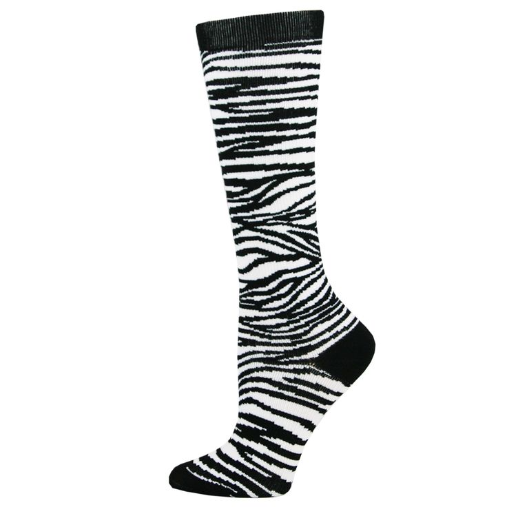 Zebra Stripes Womens Compression Socks for Nurses Size 9-11