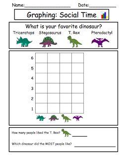 Dinosaur Unit: Favorite dinosaur graphing and socializing activity!