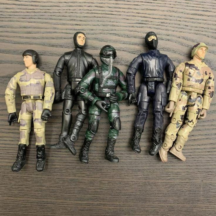 """random 5Pcs GI Joe military The Ultimate Soldier WWII 3.75/"""" action figure toy"""