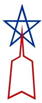 Deck Log Entry # 142 . . . Comes Our Hero Ultraman! - Captain Comics (This is the famous insignia of The Science Patrol.)