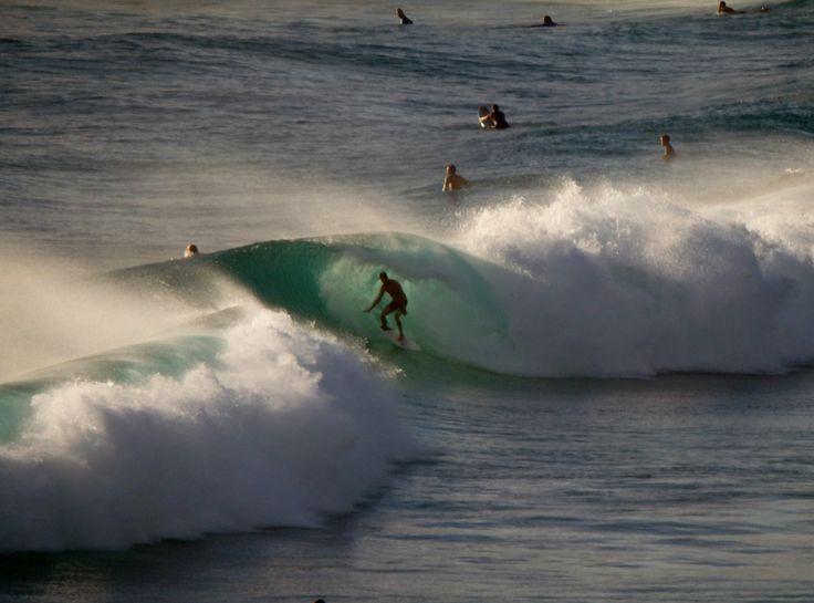 Surfer in the tube, Duranbah beach, Tweed Heads NSW