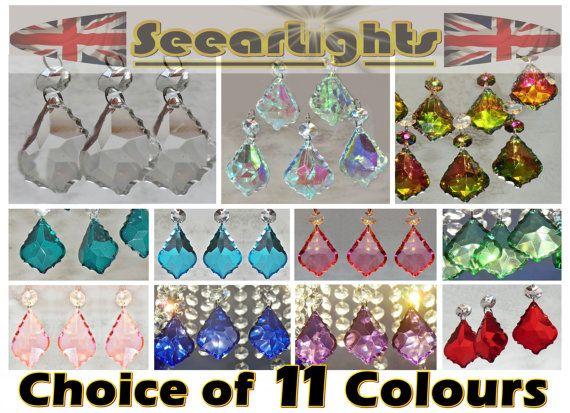 24 gotas de araña rosa pastel de cristal cristales por SeearLights