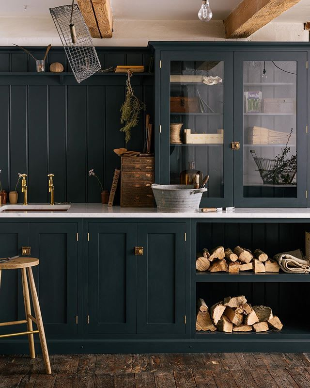 Best Farrow And Ball Pantry Blue Kitchen Cabinets Makeover 640 x 480