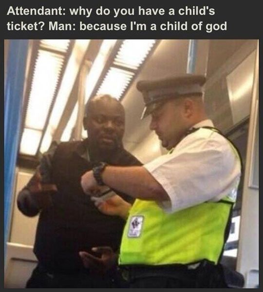 Why do you have a child's ticket