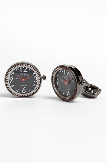 Tateossian 'Racing' Round Mechanical Watch Cuff Links available at #Nordstrom