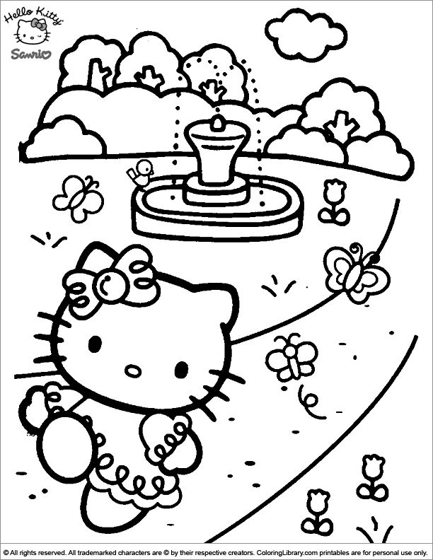 Coloring Worksheet Hello Kitty 001 In 2020 Hello Kitty Coloring Hello Kitty Colouring Pages Kitty Coloring
