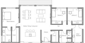 could make bed 2 & 3 into another master suite. Need to change exterior.
