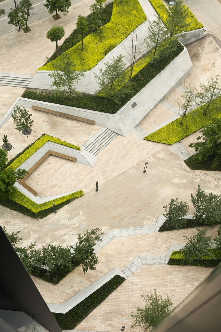 fantasia mixed use landscape - Minimalist Landscape Architecture