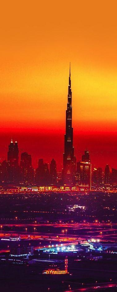 Sunset in Dubai, UAE.  Via @butterbean2001. #Dubai #travel