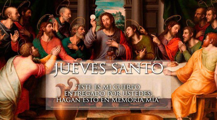 2016 | SEMANA SANTA: JUEVES SANTO La liturgia del Jueves Santo es una invitación a profundizar concretamente en el misterio de la Pasión de Cristo, ya que quien desee seguirle tiene que sentarse a su mesa y, con máximo recogimiento, ser espectador de todo lo que aconteció 'en la noche en que iban a entregarlo'. (ACI PRENSA - 24 MAR 2016 - /IPITIMES en PINTEREST)