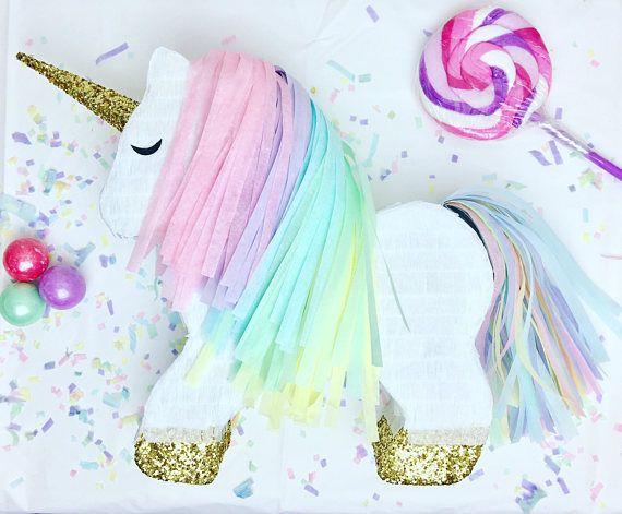 Piñata de unicornio mini  Piñata personal  Piñata de regalo