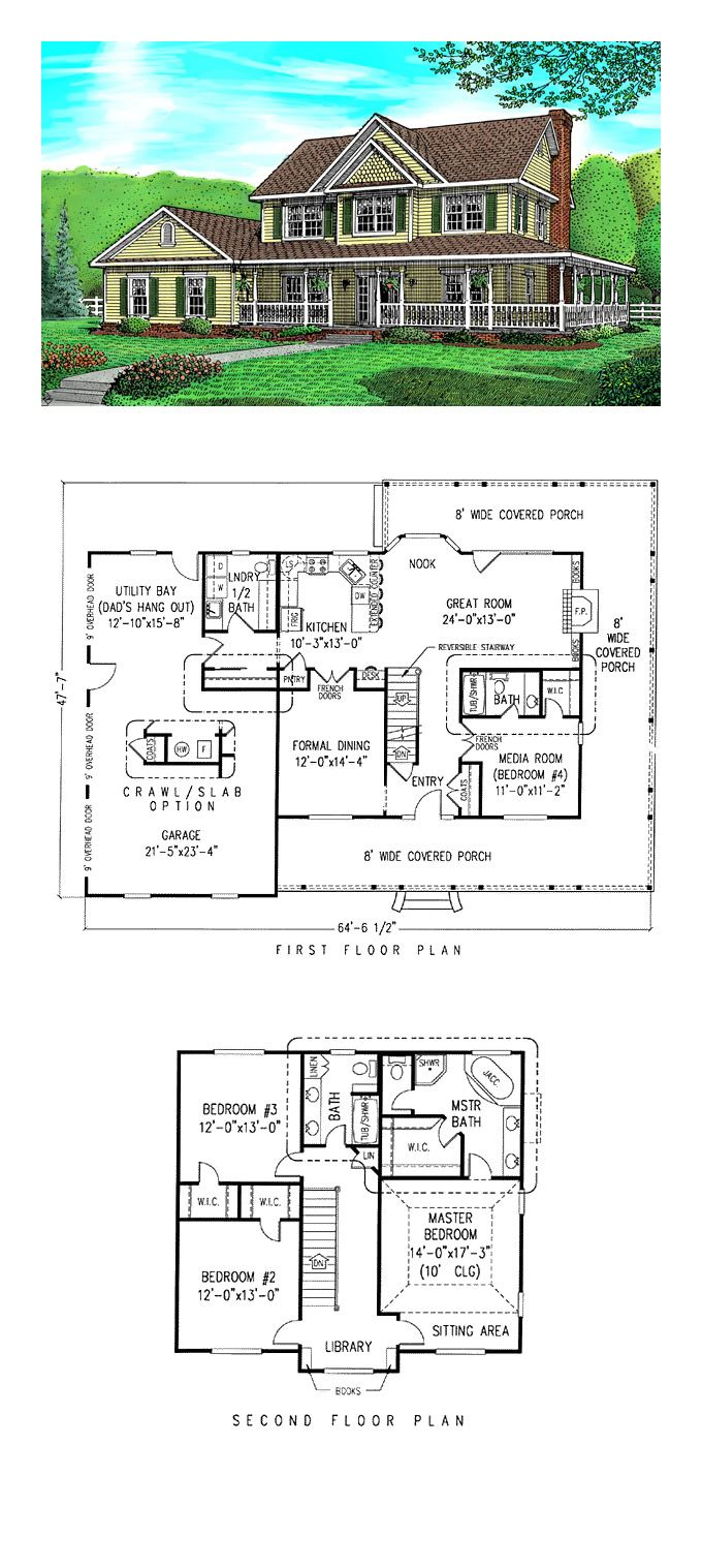 16 best House Plans with In-Law Suites images on Pinterest | Cool ...