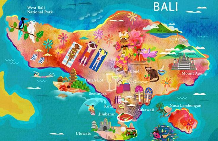 Funny map of Bali