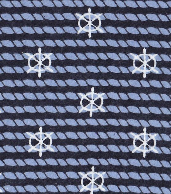 Nautical fabric rope with anchors flannel gift ideas for Upholstery fabric children