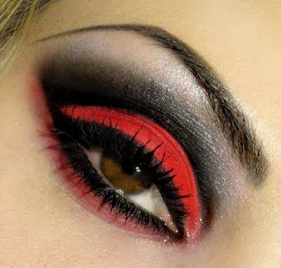 wrath: Redblack, Eye Makeup, Eye Shadows, Halloween Makeup, Queen Of Heart, Eyemakeup, Eyeshadows, Red Eye, Red Black