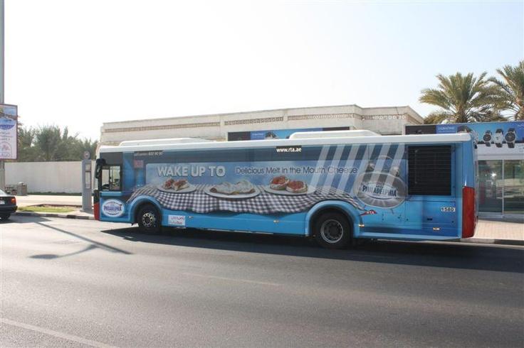 Bus Wrap designed for Kraft in Dubai to promote Philadelphia Cheese