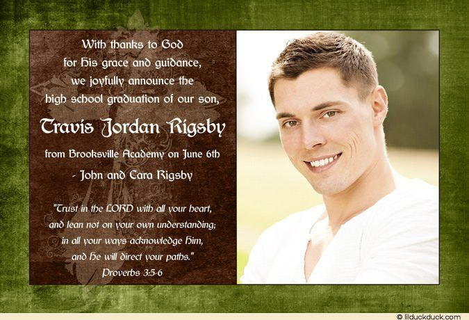 Photo Christian Graduation Announcement - Homeschool