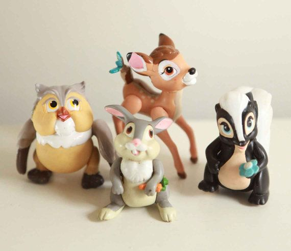Vintage 80s MCDONALDS happy meal BAMBI toys complete set 4 flower thumper via Etsy...I had these!