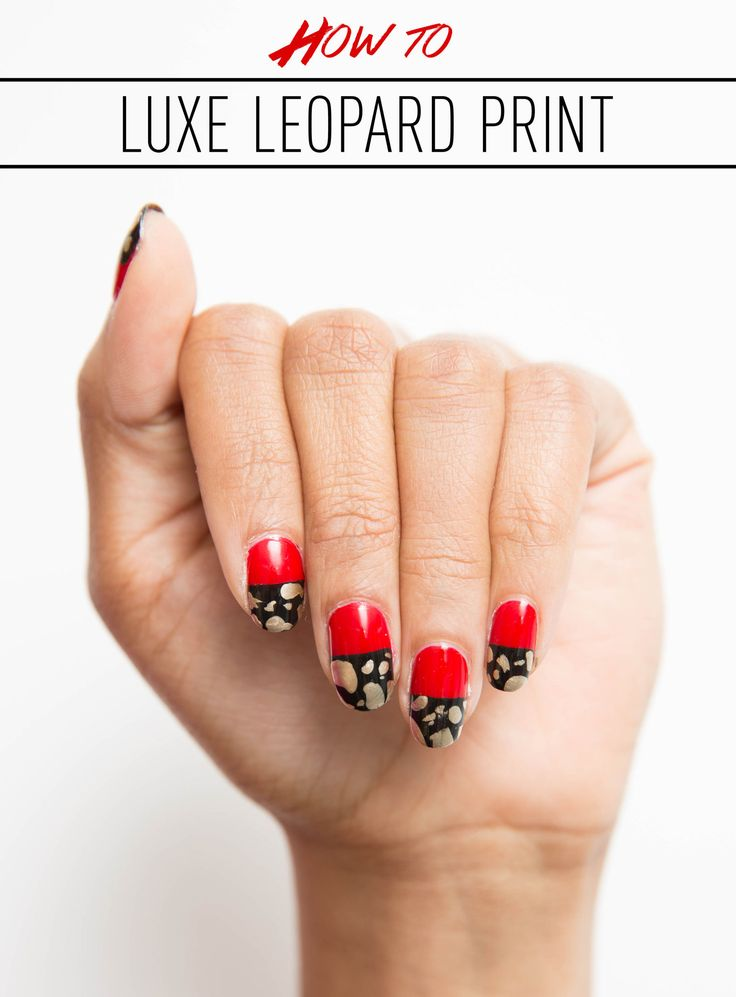 The Gold Leopard Print Mani You Need to Try This Minute ...