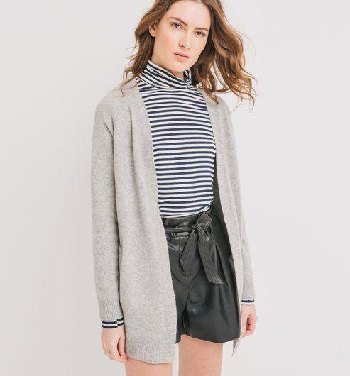 Wełniany sweter szary - Promod