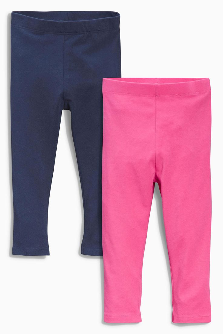 Buy Two Pack Pink And Navy Leggings (3mths-6yrs) from the Next UK online shop