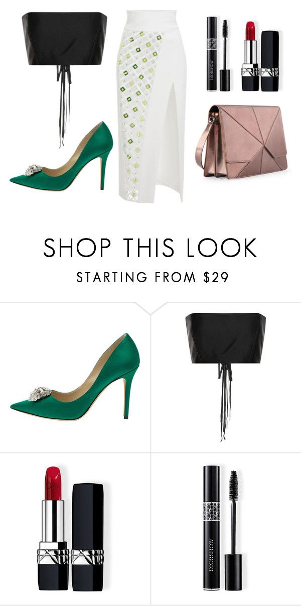 """Bones Bad Bones - I"" by loudpublicist on Polyvore featuring Jimmy Choo, The Row, Christian Dior and David Koma"
