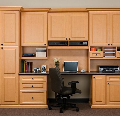Marvelous These Lovely Tan Shaded Cabinets In Your Home #office Will Make This Room In