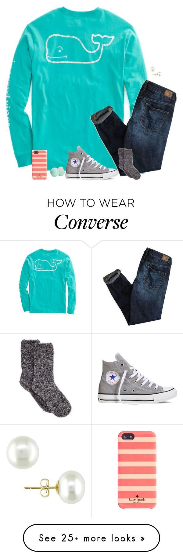 """""""Untitled #144"""" by annakhowton on Polyvore featuring American Eagle Outfitters, Converse, Charter Club, Eos, Kate Spade, Ice, women's clothing, women's fashion, women and female"""