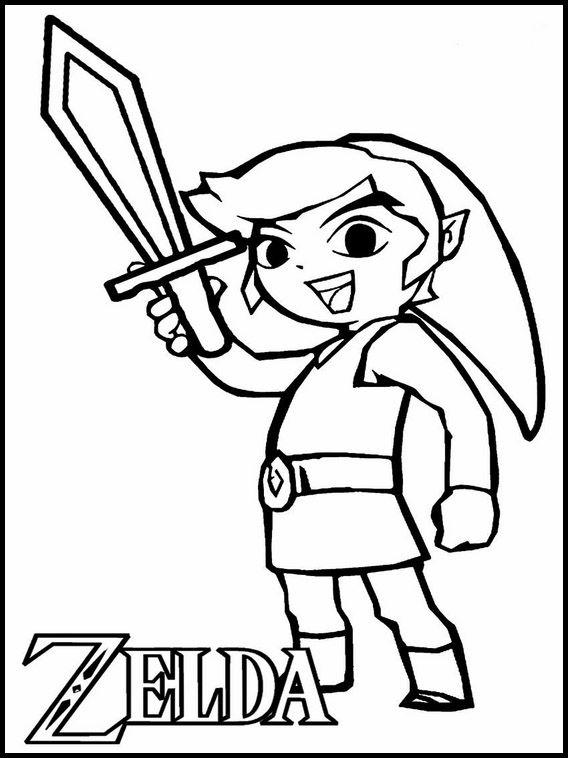 Yoshi Kleurplaten Printen.Kleurplaten Voor Kinderen Printen Zelda 10 Kleurboek