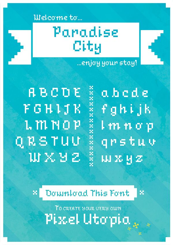 A charming elegant pixel font to be used when you want all the pixels, but need…